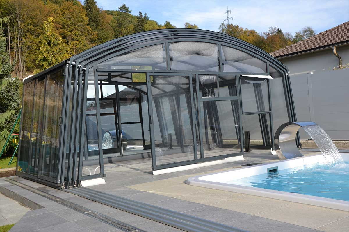 Fun 40 Pool mit Ultima Poolüberdachung ~ Pools und Poolüberdachungen ...