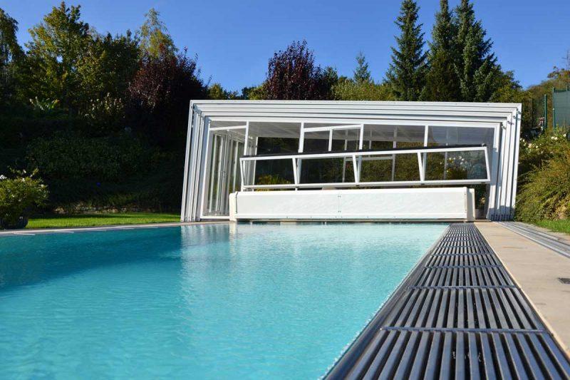 Pool Teneriffa 9 Flow-Serie mit Newline Design Poolüberdachung von Wallnerpool