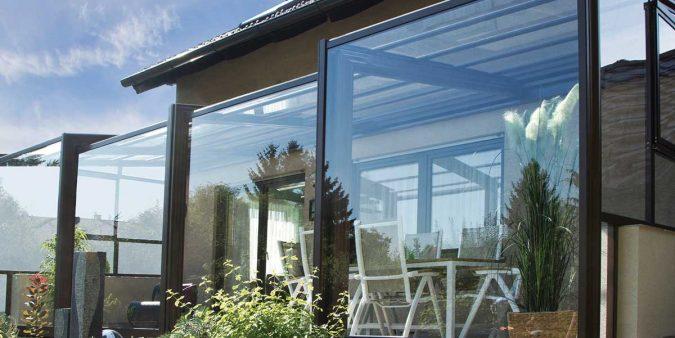 Schiebbarer Terrassenverbau von Wallnerpool