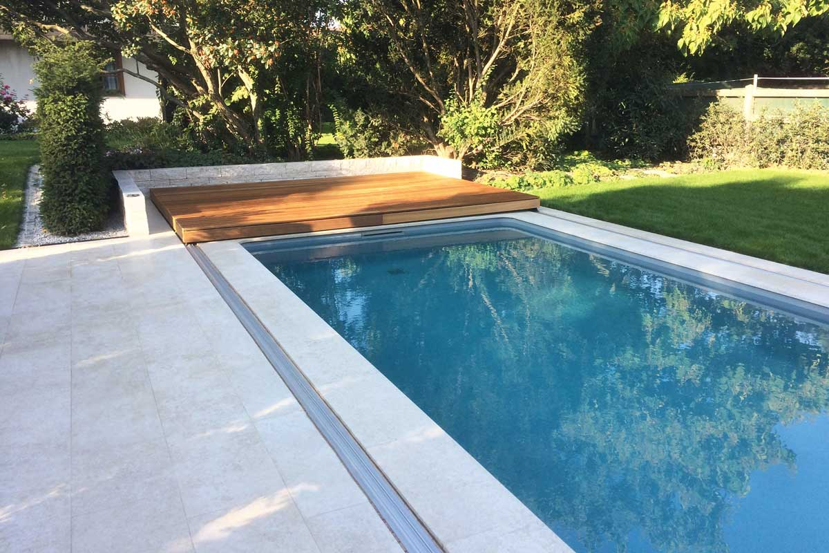 Wallnerpool Flex-Deck, die begehbare Poolabdeckung