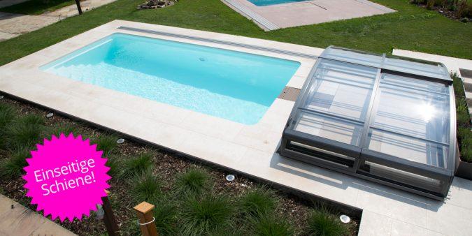 Wallner Pool-Dach einseitige Schiene