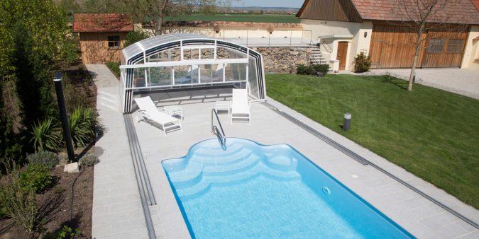 Pool-Überdachung hoch Wallnerpool