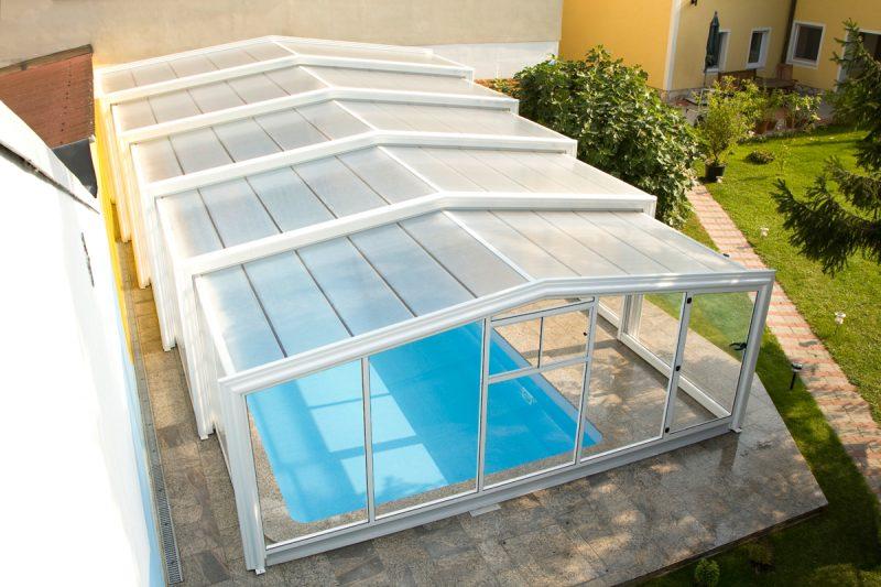 Pool Überdachung Exklusiv Style hoch Wallnerpool