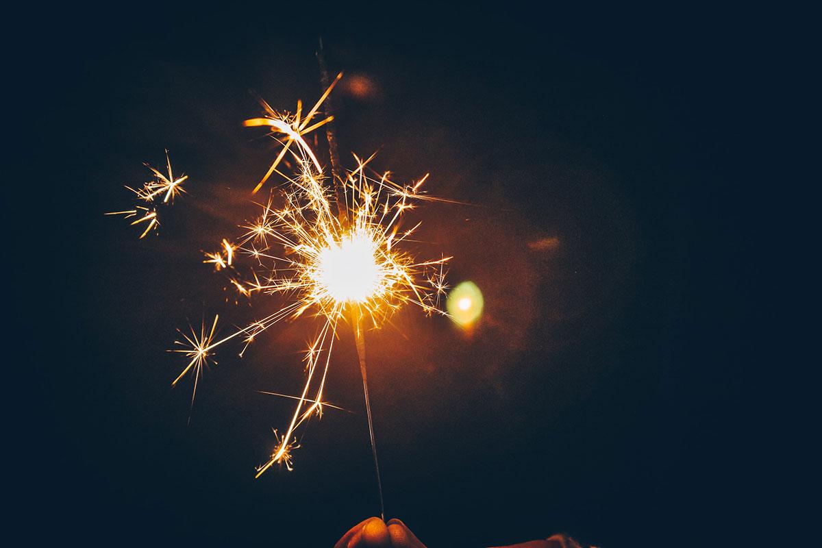 Wunderkerze zu Neujahr