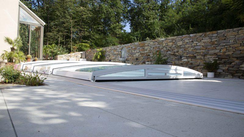 Flat Poolüberdachung von Wallnerpool