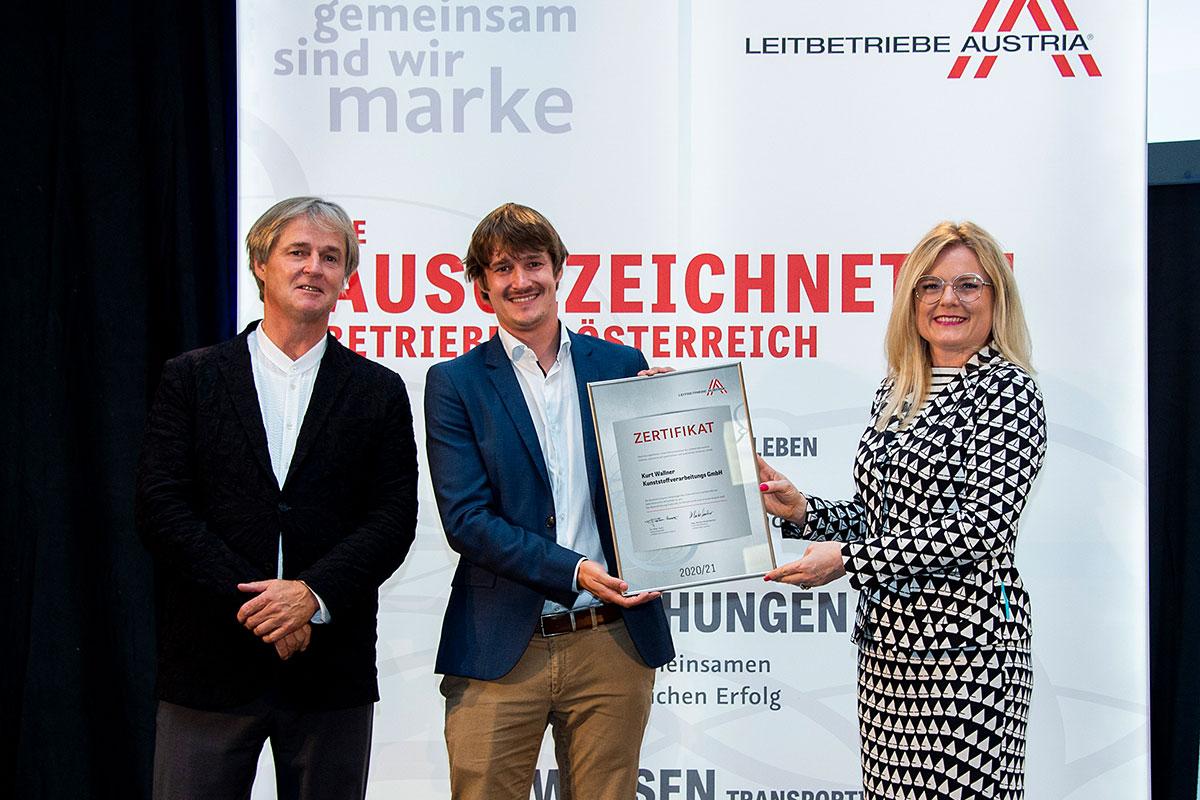 Verleihung des Zertifikats Leitbetriebe Austria 2020