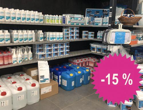 Unser Pool-Shop ist bereit – 15% auf Pflegemittel