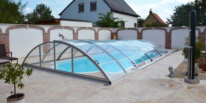 Basic Elegance Poolüberdachung von Wallnerpool