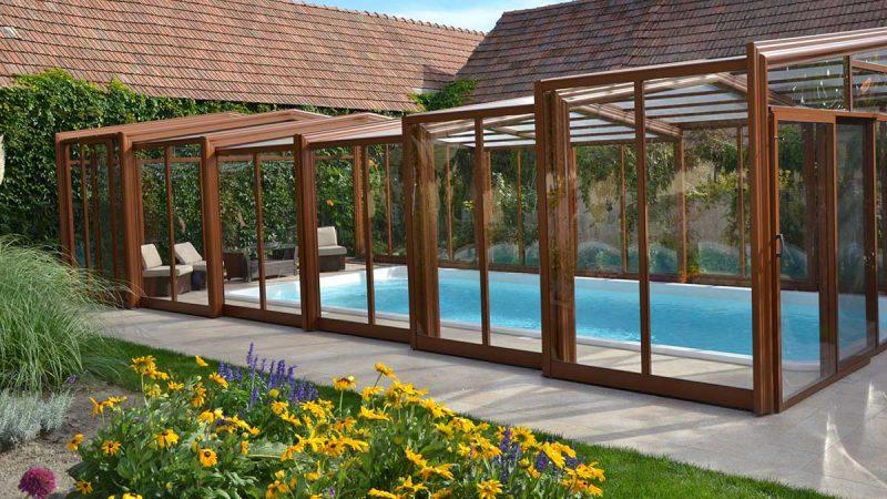 Exklusiv Style Poolüberdachung von Wallnerpool
