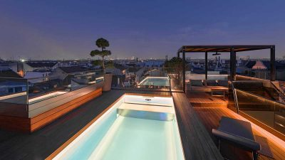 Pool Inspiration: Dachgeschoßterrasse mit Teneriffa 5 Pool von Wallnerpool
